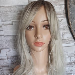 Light Ash Blonde Ombre Synthetic Wig